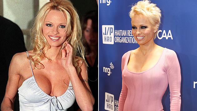 """Zwei """"schlagkräftige Argumente"""" bescherrten Pamela Anderson eine steile Showbiz-Karriere. (Bild: KAY NIETFELD/EPA/picturedesk.com, Colin Young-Wolff/Invision/AP)"""