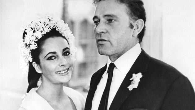 Gleich zweimal ehelichte Liz Taylor Richard Burton. Insgesamt war sie achtmal verheiratet. (Bild: UPI)