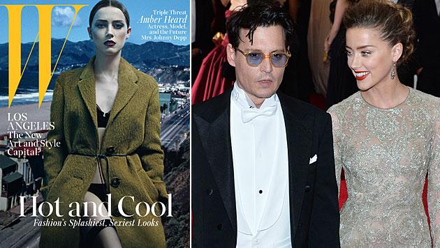 "Johnny Depps Verlobte Amber Heard: Sexy ""W""-Cover (Bild: W, APA/EPA/JUSTIN LANE)"