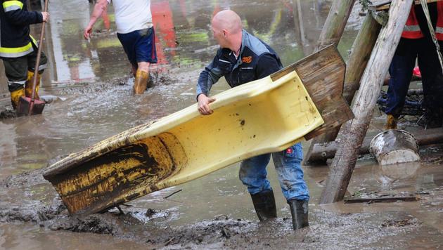 NÖ: Unwetter sorgen für Überflutungen (Bild: APA/BFK KREMS/GERNOT ROHRHOFER)