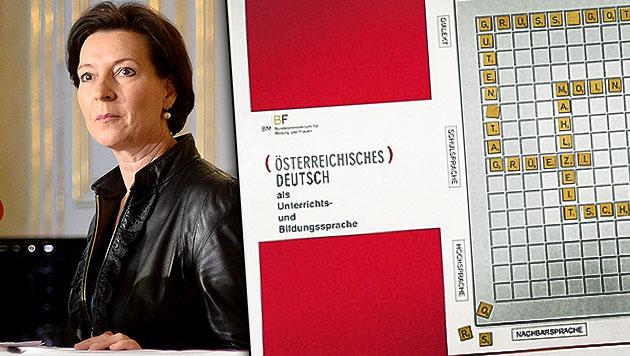 """Deutsch an Schulen: Es hat sich """"ausgetschüsst"""" (Bild: APA/ROLAND SCHLAGER, Zwefo, krone.at-Grafik)"""