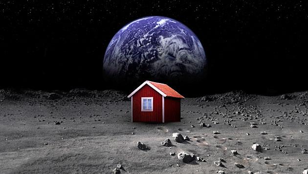 Künstler will auf Mond schwedische Hütte errichten (Bild: Sara Medina Lind)