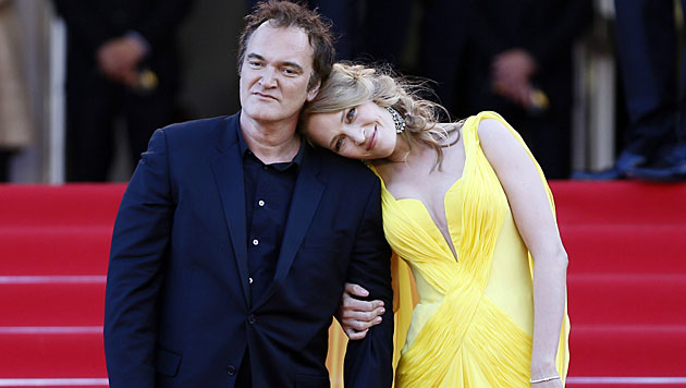 Quentin Tarantino und Uma Thurman verliebt? (Bild: APA/EPA/IAN LANGSDON)