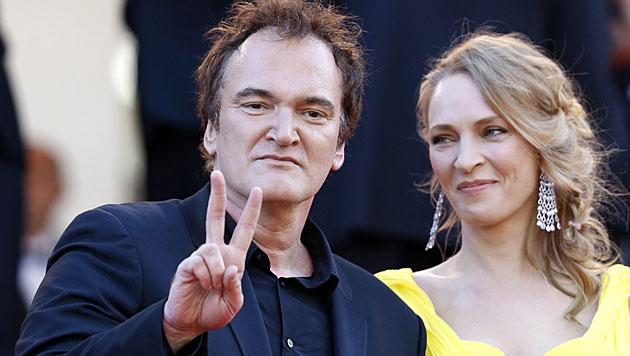 Quentin Tarantino und Uma Thurman verliebt? (Bild: APA/EPA/SEBASTIEN NOGIER)