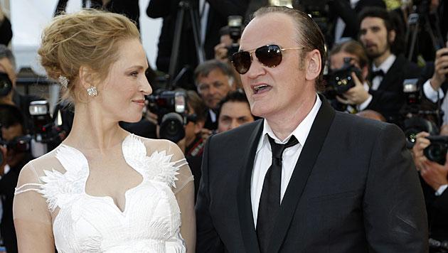 Quentin Tarantino und Uma Thurman verliebt? (Bild: AP)