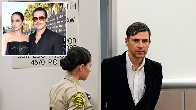Promi-Schreck Vitalii Sediuk muss wegen seiner Attacke auf Brad Pitt Sozialdienst leisten. (Bild: John Shearer/Invision/AP, AP)