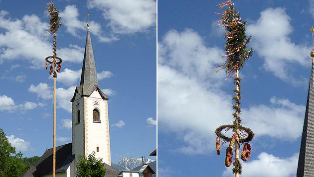 Kärntens schönster Maibaum steht in Göltschach (Bild: Walter Polenski)