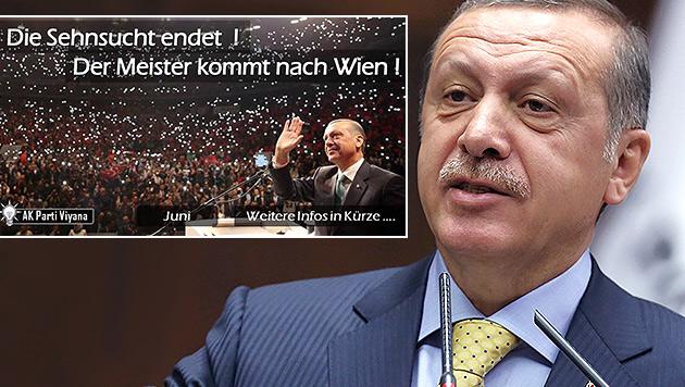 Wirbel um Erdogan: Besuch in Wien geplant? (Bild: AP, facebook.com/AKPartiViyana, krone.at-Grafik)