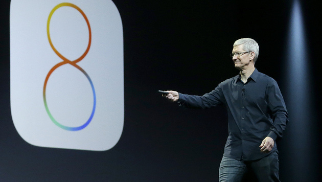 Apple enthüllt iOS 8 und Mac OS X Yosemite (Bild: AP)
