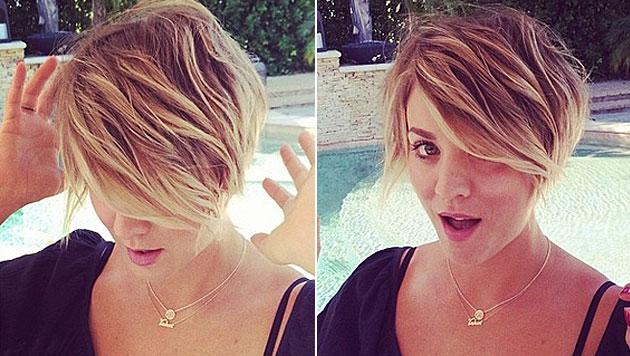 Kaley Cuoco trägt jetzt einen feschen Pixie-Cut (Bild: instagram.com/normancook)