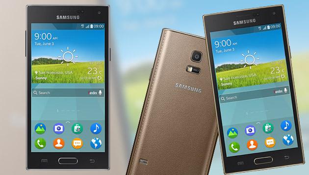 Samsung enthüllt erstes Smartphone mit Tizen (Bild: Samsung, krone.at-Grafik)