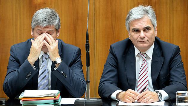 Steuerreform: Kanzler und Vize weiter im Clinch (Bild: APA/ROLAND SCHLAGER)