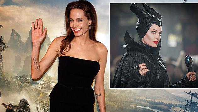 """Als Hexe """"Malefiz"""" war Angelina Jolie im Kino zu sehen. (Bild: AP)"""