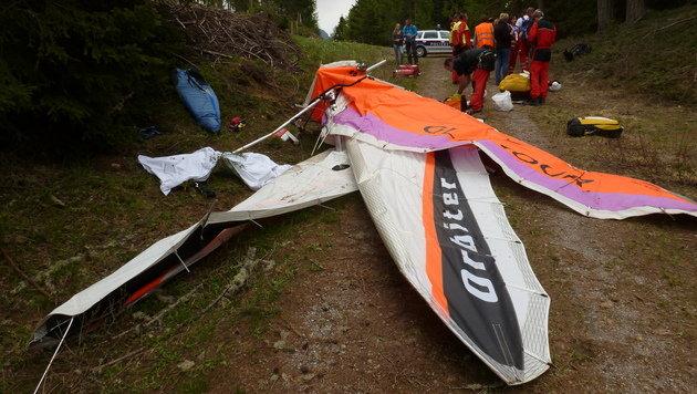 Drachenflieger in Kärnten kollidiert - zwei Tote (Bild: Rotes Kreuz RK1)