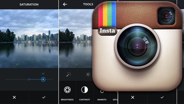 Instagram mit neuen Tools zur Bildbearbeitung (Bild: Instagram, krone.at-Grafik)
