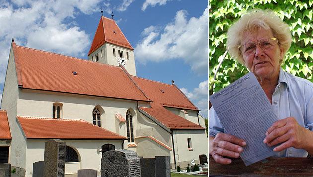 Die Pfarrkirche in Neukirchen an der Wild. Gitta Widhalm (72) ist über den Seelsorger empört. (Bild: Christoph Chromy)