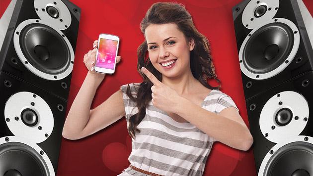 So werden Smartphone und Stereoanlage Freunde (Bild: thinkstockphotos.de, krone.at-Grafik)