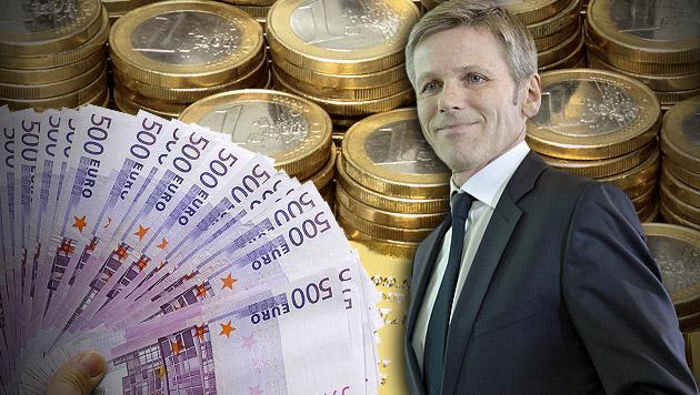 So will die SPÖ 80.000 Reiche zur Kasse bitten (Bild: thinkstockphotos.de, APA/EPA/HERBERT NEUBAUER, krone.at-Grafik)