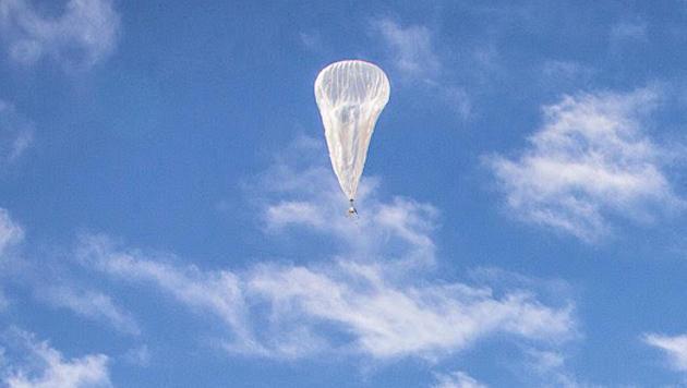 Stromausfall durch bruchgelandeten Google-Ballon (Bild: plus.google.com/ ProjectLoon)