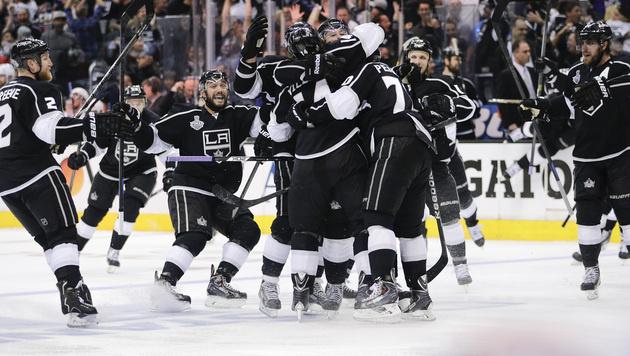 L.A. Kings gewinnen Auftakt der NHL-Finalserie (Bild: AP)