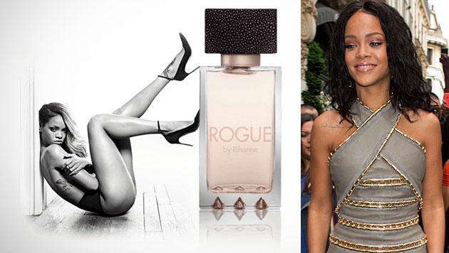 Plakat verboten: Rihanna ist Briten viel zu sexy (Bild: Rogue by Rihanna, AP)
