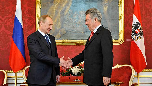 Putin kommt am 24. Juni nach Österreich (Bild: APA/Herbert Neubauer (Archivbild))