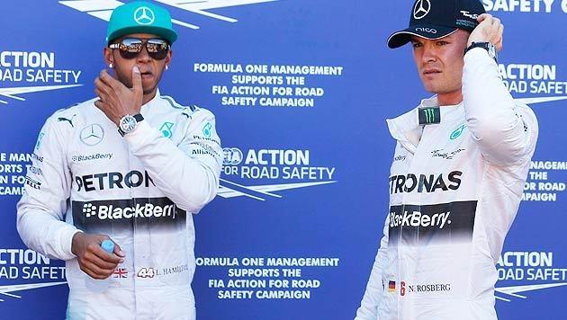 Rosberg und Hamilton erklären Streit für beendet (Bild: AP)