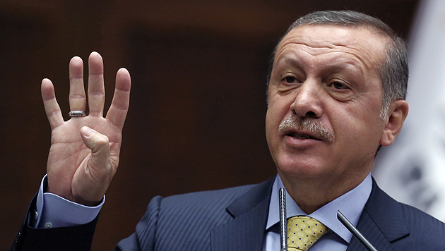 Sultan Erdogan nicht erwünscht (Bild: AP)