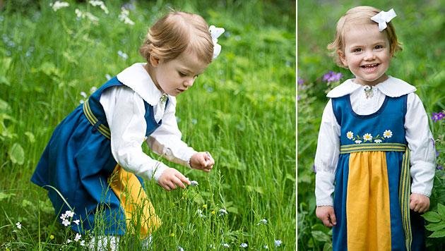 Mini-Prinzessin Estelle sendet schwedische Grüße (Bild: kungahuset.se/Kate Gabor)