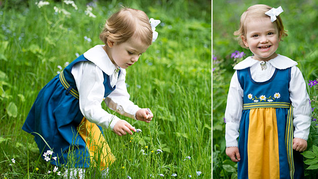 Prinzessin Estelle entzückt die Gratulanten-Schar (Bild: kungahuset.se/Kate Gabor)