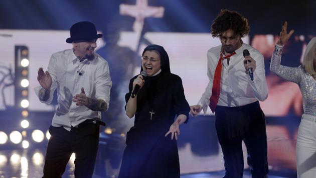 """Rockende Nonne gewinnt """"The Voice"""" in Italien (Bild: AP)"""