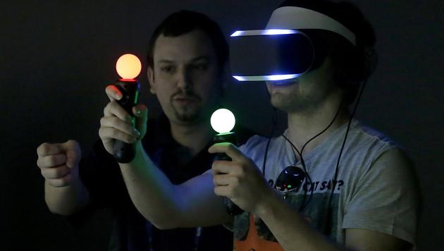 Sony zeigt Cyberbrille Morpheus breitem Publikum (Bild: AP)