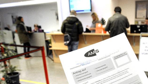Arbeitslosigkeit steigt stark, +14,4% in Wien (Bild: APA/HERBERT PFARRHOFER)