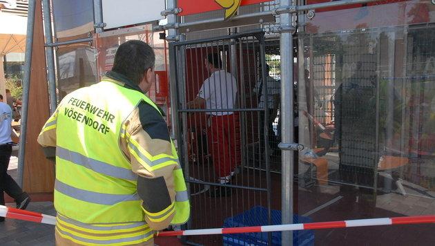 NÖ: Kleinkind steckte mit Kopf in Gitter fest (Bild: Presstelle BFK Mödling)