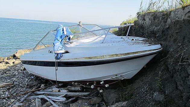 Vbg: Betrunkene rammten Rheindamm mit Motorboot (Bild: APA/LPD VORARLBERG)