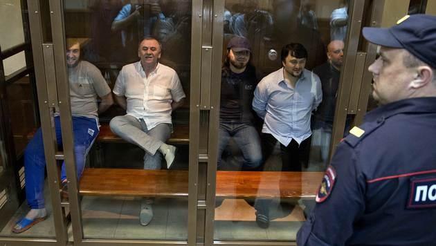 Lange Haftstrafen für die Ermordung der kremlkritischen Journalistin Politkowskaja. (Bild: AP)