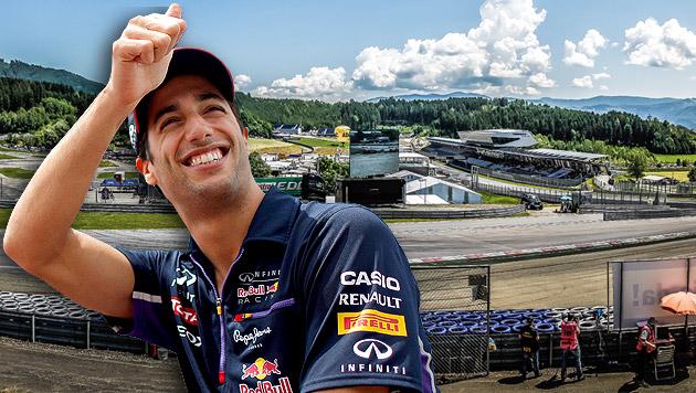 "Ricciardo: ""Dann wird Österreich explodieren!"" (Bild: APA/ERWIN SCHERIAU,APA/EPA/VALDRIN XHEMAJ, krone.at-Grafik)"