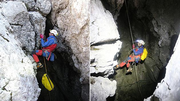 Salzburger Retter in 1.000 Metern Tiefe im Einsatz (Bild: APA/Bayerisches Rotes Kreuz)