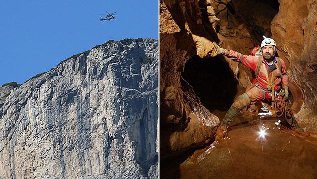 Höhlenforscher Johann Westhauser entdeckte die Höhle mit Kameraden. Nun ist er in ihr gefangen. (Bild: AP, BRK BGL)