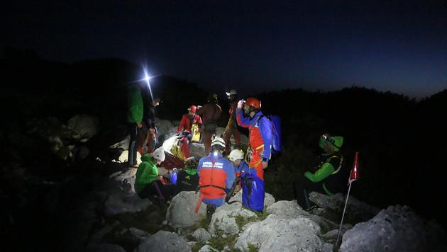 Salzburger Retter in 1.000 Metern Tiefe im Einsatz (Bild: BRK BGL)