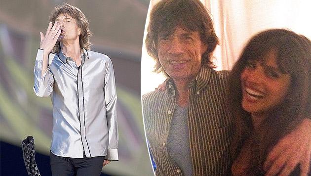 Mick Jagger mit seiner neuen Freundin (Bild: APA/EPA/PAUL BERGEN, instagram.com/noatishby)