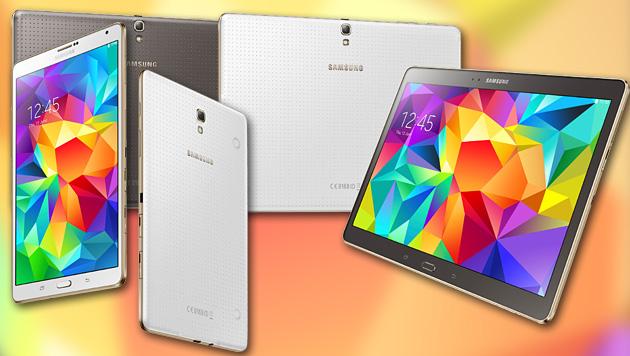 """Super dünn und leicht: Samsungs """"Galaxy Tab S"""" (Bild: Samsung, krone.at-Grafik)"""