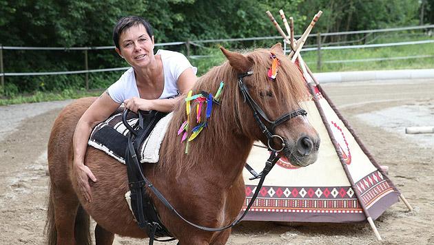 Andrea Pilch, FEBS-Pädagogin, ist selbst Dressur-Ass. (Bild: Jürgen Radspieler)