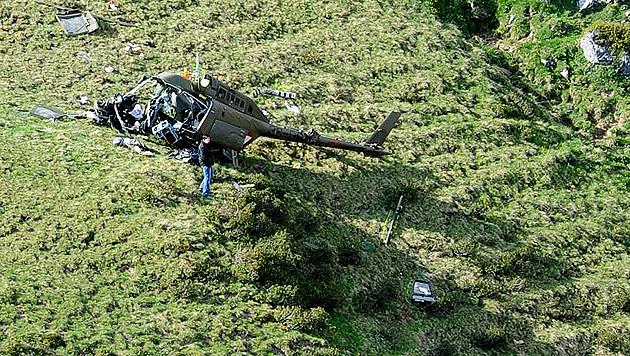 Bundesheer-Heli abgestürzt: Toter und 2 Verletzte (Bild: BUNDESHEER/PUSCH)