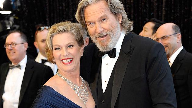 Jeff Bridges und seine Frau Susan Geston (Bild: MIKE NELSON/EPA/picturedesk.com)