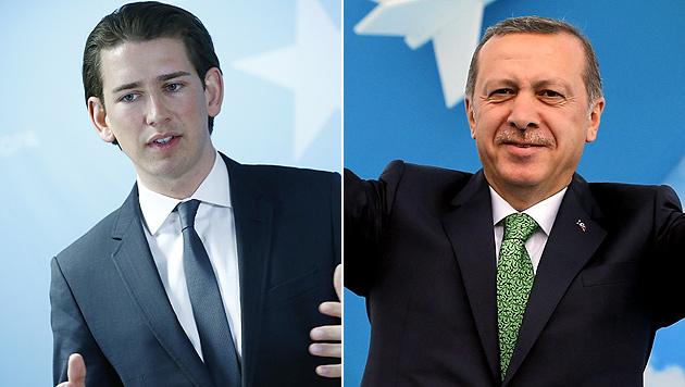 Inoffizielles Treffen zwischen Kurz und Erdogan (Bild: APA/EPA/SEDAT SUNA/DRAGAN TATIC)
