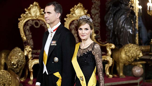 Die neue Königin Spaniens Letizia sorgt immer wieder für Magersuchtsgerüchte. (Bild: AFP)