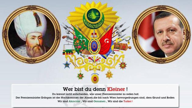 """Türkische Hacker haben Kurz"""" Website mit einer angriffslustigen Botschaft versehen. (Bild: sebastian-kurz.at, krone.at-Grafik)"""