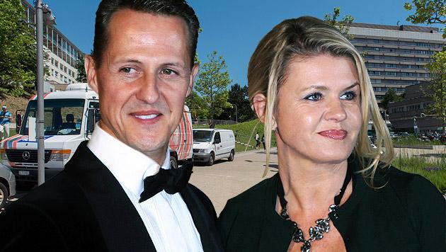 Michael Schumacher und seine Frau Corinna (Bild: APA/dpa/Fredrik von Erichsen, APA/EPA/SANDRO CAMPARDO)