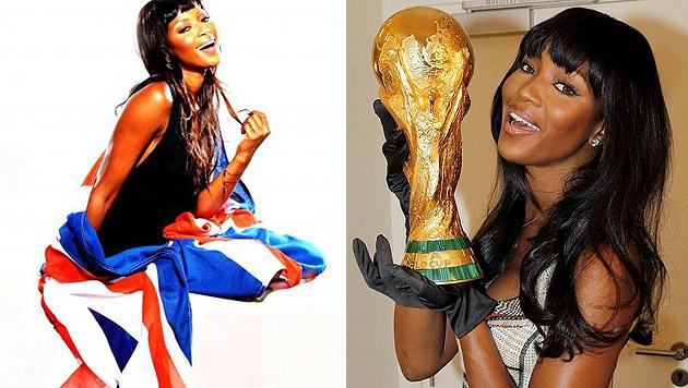 Naomi Campbell darf schon in den Händen halten, wovon ihre Lieblingsmannschaft England noch träumt. (Bild: instagram.com/iamnaomicampbell)